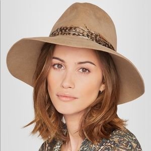 Eugenia Kim Farrah Feather-trimmed Rabbit-felt Hat